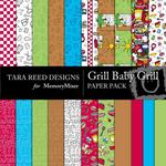Grill Baby Grill Paper Pack-$3.49 (Tara Reed Designs)