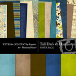 Tall Dark and Handsome Paper Pack-$4.00 (Ettes and Company by Fayette)