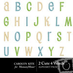 2 Cute 4 Words Alphabet Pack-$1.00 (Carolyn Kite)