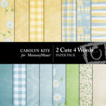 2 Cute 4 Words Paper Pack-$3.99 (Carolyn Kite)