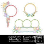 Season of Change Spring Frame Cluster Pack-$2.00 (Karen Lewis)