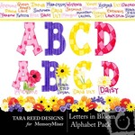 Letters In Bloom Alphabet Pack-$1.00 (Tara Reed Designs)