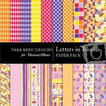 Letters In Bloom Paper Pack-$4.00 (Tara Reed Designs)
