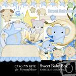 Sweet Baby Boy Embellishment Pack-$2.99 (Carolyn Kite)