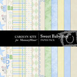 Sweet Baby Boy Paper Pack-$3.99 (Carolyn Kite)