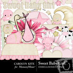 Sweet Baby Girl Embellishment Pack-$2.99 (Carolyn Kite)