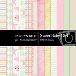 Sweet Baby Girl Paper Pack-$3.99 (Carolyn Kite)