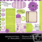 Showers Bring May Flowers Embellishment Pack-$3.00 (Melissa Nuttall)
