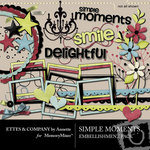Simple Moments Embellishment Pack-$3.50 (Ettes and Company by Annette)