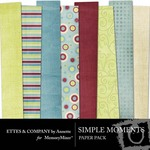 Simple Moments Paper Pack-$4.00 (Ettes and Company by Annette)