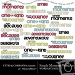 Simple Moments WordArt Pack-$2.00 (Ettes and Company by Annette)