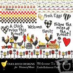 Welcome To The Roost Embellishment Pack-$3.49 (Tara Reed Designs)