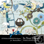 In Your Dreams Embellishment Pack-$3.50 (Ettes and Company by Fayette)