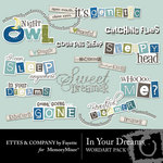 In Your Dreams WordArt Pack-$1.99 (Ettes and Company by Fayette)