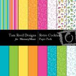 Retro Cocktails Paper Pack-$4.00 (Tara Reed Designs)