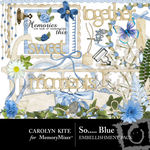 So Blue Embellishment Pack-$2.99 (Carolyn Kite)