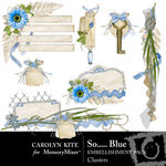 So Blue Embellishment Cluster Pack-$2.49 (Carolyn Kite)