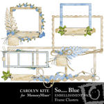 So Blue Frame Clusters Pack-$2.49 (Carolyn Kite)