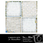 So Blue Layered Paper Pack-$2.49 (Carolyn Kite)