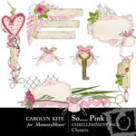 So Pink Embellishment Cluster Pack-$2.49 (Carolyn Kite)