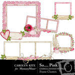 So Pink Frame Cluster Pack-$2.49 (Carolyn Kite)