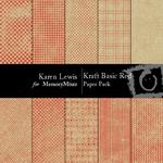 Kraft Basic Red Paper Pack-$3.99 (Karen Lewis)