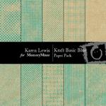 Kraft Basic Blue Paper Pack-$4.00 (Karen Lewis)
