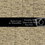 EveryDay Kraft Days of the Week Paper Pack-$3.49 (Karen Lewis)