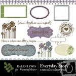 EveryDay Story Rubons-$2.99 (Karen Lewis)
