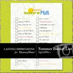 Summer Bucket List QuickMix-$1.00 (Lasting Impressions)