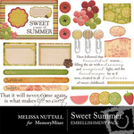 Sweet Summer Embellishment Pack-$3.49 (Melissa Nuttall)
