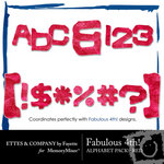 Fabulous 4th Red Alphabet Pack-$0.99 (Ettes and Company by Fayette)