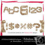 Fabulous 4th Kraft Alphabet Pack-$0.99 (Ettes and Company by Fayette)