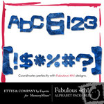 Fabulous 4th Blue Alphabet Pack-$0.99 (Ettes and Company by Fayette)
