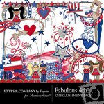 Fabulous 4th Embellishment Pack-$3.50 (Ettes and Company by Fayette)