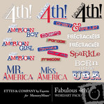 Fabulous 4th WordArt Pack-$1.99 (Ettes and Company by Fayette)