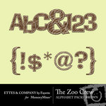 The Zoo Crew Brown Alphabet Pack-$0.99 (Ettes and Company by Fayette)