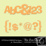The Zoo Crew Orange Alphabet Pack-$0.99 (Ettes and Company by Fayette)