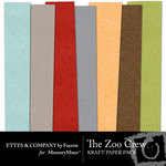 The Zoo Crew Kraft Paper Pack-$3.49 (Ettes and Company by Fayette)
