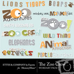 The Zoo Crew WordArt Pack-$1.50 (Ettes and Company by Fayette)