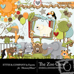 The Zoo Crew Embellishment Pack-$3.49 (Ettes and Company by Fayette)