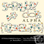 TWFAF Scribbly Dots Alphabet Pack-$1.00 (Ettes and Company by Fayette)