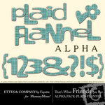 TWFAF Plaid Flannel Alphabet Pack-$1.00 (Ettes and Company by Fayette)