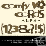 TWFAF Comfy Cords Alphabet Pack-$1.00 (Ettes and Company by Fayette)