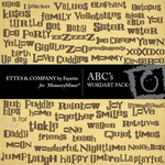 ABC WordArt Pack-$1.50 (Ettes and Company by Fayette)