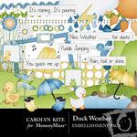 Duck Weather Embellishment Pack-$1.50 (Carolyn Kite)