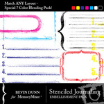 Stenciled Journaling Embellishment Pack-$3.50 (Bevin Dunn)