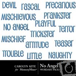 No angel wordart small