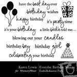 Everyday Birthday Stamp Pack-$1.49 (Karen Lewis)
