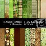Floral Camouflage Paper Pack-$3.99 (Emma Schonenberg)